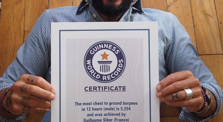 RECORD HOLDER _ Guillaume Siber réalise 5254 burpees en 12h – 1